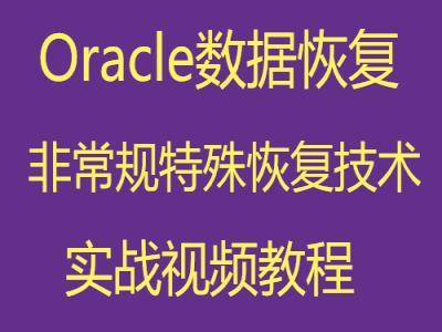 Oracle数据库高级非常规特殊恢复技术视频教程
